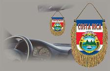 COSTA RICA REAR VIEW MIRROR WORLD FLAG CAR BANNER PENNANT