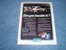 """1979 Pro-Cision Remote Control Porsche Race Car Vintage Ad """"Can You Handle It?"""""""