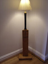 Vintage 1950s Cricket bat floor lamp.