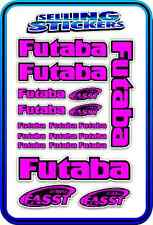 FUTABA SERVO RADIO RX TX 2.4G FLIGHT REMOTE CONTROL STICKERS FASST PINK BLACK