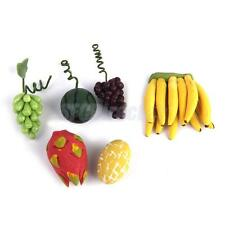 6pc Dollhouse Miniature Fruits Kitchen Food Accessory Grapes Banana Watermelon