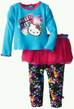 AUTH. BNWT HELLO KITTY BABY GIRLS TWO PIECE LEGGING AND TOP SET (12M)