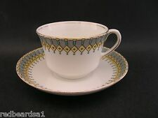 Aynsley Art Deco Tea Cup Saucer Vintage Bone China Hand Painted c1920s