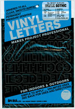 """Permanent Adhesive Vinyl Letters and Numbers 1""""-Gothic/Black"""