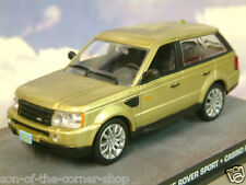 1/43 JAMES BOND 007 RANGE ROVER SPORT FROM CASINO ROYALE IN METALLIC GOLD