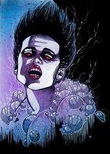 Gothic Gozer Ghostbusters FANTASY FAN ART ebsq 8x10