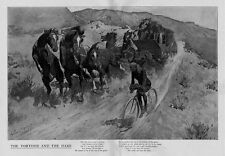 FREDERIC REMINGTON HORSES COACH SIX IN HAND EARLY BICYCLE TORTOISE AND THE HARE