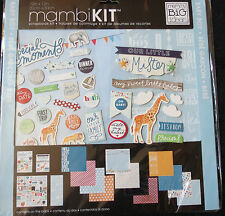 "Baby Boy (Our Little Mister) 12""x12"" Scrapbook Kit by MAMBI *Cool Baby Boy*"