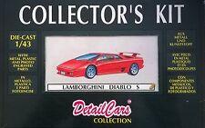 DETAIL CARS DETAILCARS COLLECTOR'S KIT 1:43 DIE CAST LAMBORGHINI DIABLO S  8001