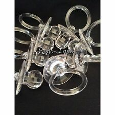 60 BIG Diamond Cut Pacifiers Baby Shower Favors Clear Party Decorations Girl Boy
