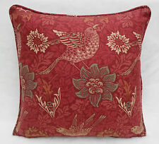 William Morris Fabric Cushion Cover 'Bird & Anemone' Red Clay 100% Cotton