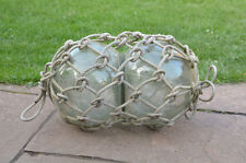old vintage double glass floats fishing float / nautical boat floats