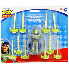 Disney's Toy Story Candle Cake Topper Set Buzz Light Year Aliens Kids Birthday
