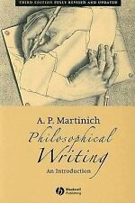 Philosophical Writing: An Introduction, Martinich, A. P., Acceptable Book