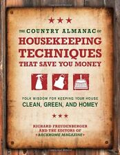 The Country Almanac of HOUSEKEEPING TECHNIQUES NEW BOOK Cleaning Supplies Tricks