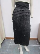 New Dolce & Gabbana High Waist, Faux Raffia, Tiered Pencil Skirt