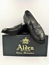 ALDEN PENNY LOAFER FLEX WELT BLACK LEATHER MENS SHOES 9695F NIB 11.5D