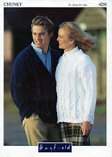 ~ Hayfield Knitting Pattern For Adult's Chunky Jacket & Cardigan To Knit ~