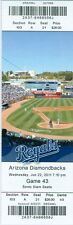 2011 Royals vs Diamondbacks Ticket:  Ian Kennedy Win/Xavier Nady hit RBI double
