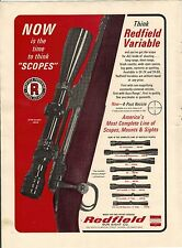 Original 1966 Redfield Gun Scope Magazine Ad
