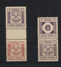 Lokalausgaben Niesky SZ 4 und SZd 7 postfrisch (B06050)