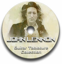 JOHN LENNON GUITAR & PIANO TABS TABLATURE SONG BOOK SOFTWARE CD