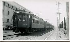 6E986 RP 1950 PACIFIC ELECTRIC RALWAY CAR #1101 HEADED TO TORRENCE CA