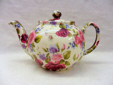 summer rose chintz design 2 cup teapot by Heron Cross Pottery