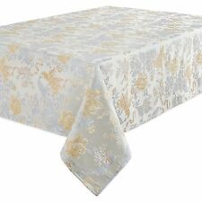 "Waterford Linens Eva 70"" x 84"" Tablecloth Jacquard Floral"