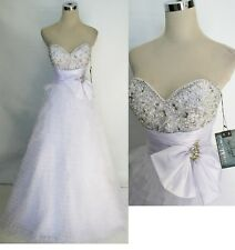 NWT Mac Duggal COUTURE 4759H White $458 Prom Gown 12