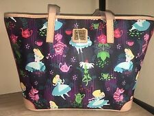 New Dooney & Bourke Disney Alice In Wonderland Tea Time Shopper Tote Bag