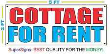 2x5 COTTAGE FOR RENT Banner Sign NEW Larger Size