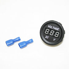 Car Motorcycle Boat Voltmeter DC Voltage Meter LED Digital 12-24V Waterproof
