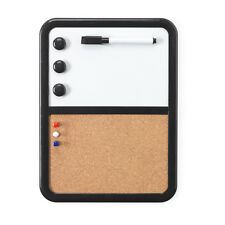 White Magnetic Pin Cork Board Dry Wipe Marker Pen Memo Notice Holder Kitchen