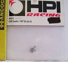 """HPI RACING R/C RADIO CONTROL CAR #6501 DIFF BALLS 1/8"""" PARTS 8 PIECES"""
