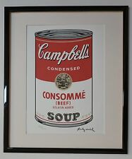 """Andy Warhol Campbell's Soup """"Consomme Beef"""" Lithograph Limited 3000 pcs."""