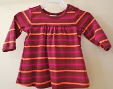 Brand New W/Tags Hanna Andersson Russet Stripe Play Dress Size 50/0-3M ~ Cute