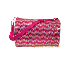 Duffle Bag Chevron Sequin Shoulder Duffle Bag