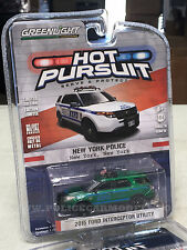 Greenlight 1/64 GREEN MACHINE NYPD New York City Police Ford PI Utility SUV HP19
