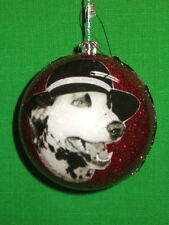 Red Glittered Dalmatian Photo Dog Ball Ornament by Katherines Collection Retired