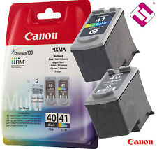 PACK CARTUCHO NEGRO PG40 COLOR CL41 ORIGINAL PARA IMPRESORA CANON PIXMA MP 140