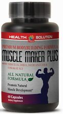 MUSCLE MAKER PLUS  Deer Antler Velvet Testosterone Booster TRIBULUS DHEA 1B