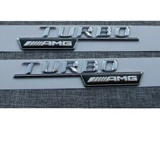 TURBO ////AMG Number Letters Trunk Emblem Decal Sticker 2pcs for Mercedes Benz