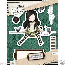 Docrafts papermania urban rubber stamp set santoro's gorjuss on top of the world