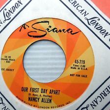 NANCY ALLEN this time next year Our first day apart 1964 TEEN promo 45 e5746