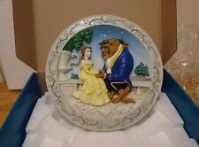 RARE VINTAGE DISNEY'S ANIMATED CLASSICS 3D PLATE BEAUTY AND THE BEAST 1991