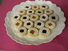 2LB LINZER TART COOKIES FILLED WITH FRUIT PRES.,HUNGARIAN/EUROPIAN,HOME MADE