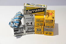 VINTAGE LOT OF KODAK, AGFA AND ILFORD 120 ROLL FILM  NINE ROLLS