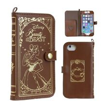 Disney Beauty and the Beast Bell iPhone6 4.7 Leather Old Book Case Free Japan