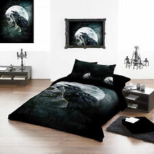 Raven's Curse 100% Cotton king size duvet pillow cover set 225x200cm 89''x86""